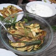eingelegte Zucchini (als Anspielung auf unsere italienischen Momente/ Baustellentradition)