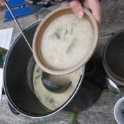 Zwiebelsuppe aus Zwiebeln aus dem eigenen Garten