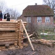 Blockhausbau Januar 2008