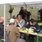 Die Apfelpresse auf dem Apfelfest 2008