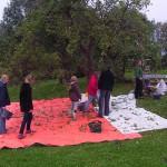 Äpfel-Sammeln für Vereinssaft auf unserer Vertrags-Streuobstwiese in Lüdersdorf am 09.10.2011